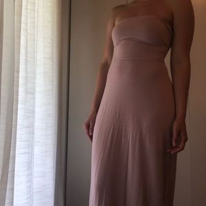 Free People Beach dusty pink maxi dress